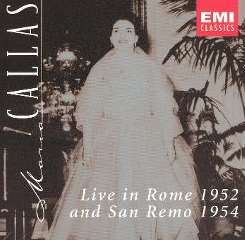 Maria Callas - Maria Callas Live in Rome 1952 and San Remo 1954 flac album